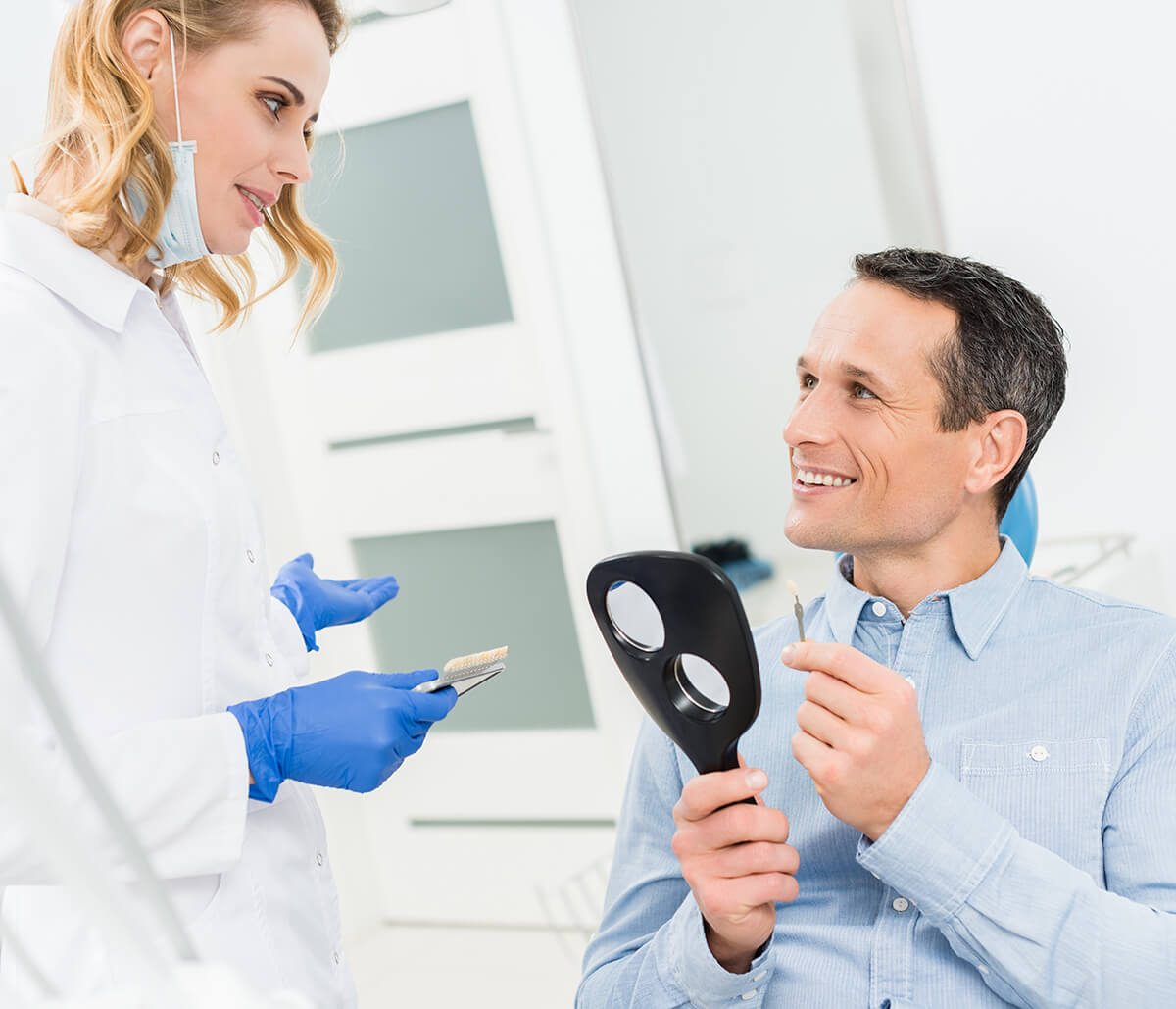 Scottsdale, AZ dentist describes the dental implant procedure to replace a missing tooth